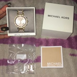 Michael Kors Parker Rose Gold Blush Acetate Watch